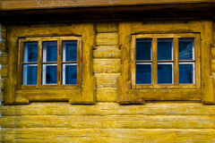 Wooden windows Royalty Free Stock Images