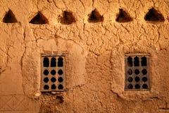 Wooden windows . Ouarzazate. Morocco. Stock Photography