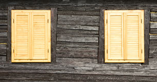 Wooden windows and shutters Royalty Free Stock Photos