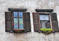 Wooden windows Royalty Free Stock Photos