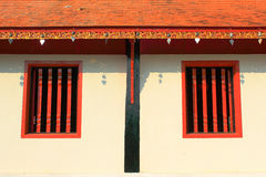 Wooden windows in Wat Thai. Royalty Free Stock Photography