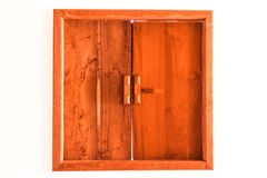 Wooden Windows. Wooden window with isolated background Royalty Free Stock Photos