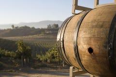 Wooden Wine Barrel Stock Photography