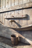 Wooden wine barrel with faucet Stock Photography
