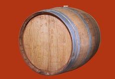 Wooden wine barrel. Stock Photos