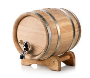 Wooden wine barrel Royalty Free Stock Photography