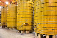 Wooden Wine Barrels Stock Image