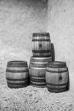 Wooden wine barrels Royalty Free Stock Image