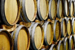 Wooden wine barrels Royalty Free Stock Photos