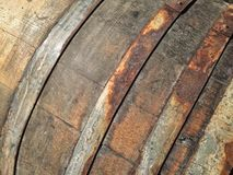 Wooden Wine Barrels Royalty Free Stock Photography