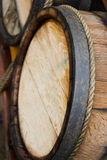 Wooden wine barrels Stock Images