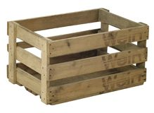 Wooden wine crate Royalty Free Stock Images