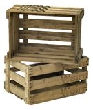 Wooden wine crate Stock Images