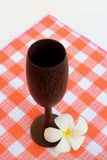 Wooden wine cup Stock Photography