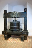 Wooden wine press Stock Images