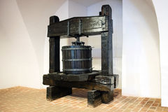 Wooden wine press Royalty Free Stock Photo