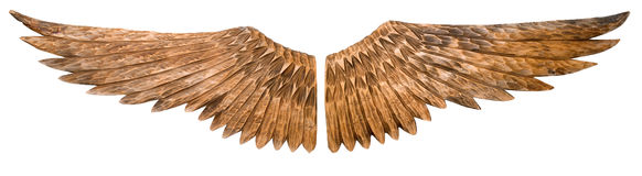 Wooden wings. Royalty Free Stock Photo