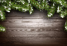 Wooden winter background Royalty Free Stock Photo