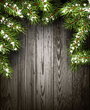 Wooden winter background Stock Images