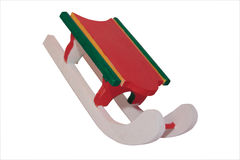 Wooden winter sleigh 1. Wooden christmas sleigh ornament with a clipping path vector illustration