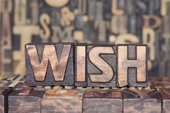 Wooden WISH concept Royalty Free Stock Photos