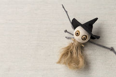 Wooden witch doll Royalty Free Stock Photos