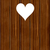 Wooden wood planks board with heart romantic texture Stock Image