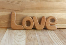 Wooden word love Royalty Free Stock Photo