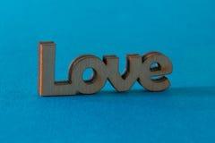 Wooden word love Stock Photo