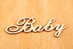 Wooden words Baby Royalty Free Stock Photo