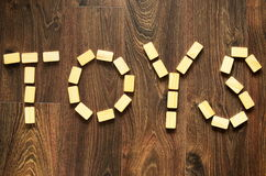 Wooden words Stock Photography