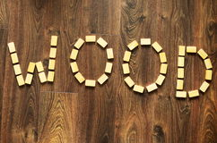 Wooden words Royalty Free Stock Images