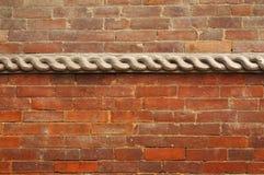 Wooden work on the wall of Hanuman Dhoka Durbar Stock Image