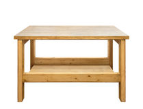 Wooden workbench isolated Royalty Free Stock Image