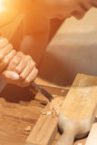 Wooden working Stock Image