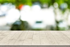 Wooden worktop surface with old natural pattern. Stock Images