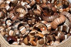 Wooden wrislets Stock Photos