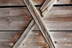 Wooden X texture Royalty Free Stock Photography