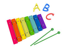 Wooden xylophone Royalty Free Stock Photo
