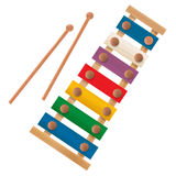 Wooden xylophone. Icon over white background Royalty Free Stock Photography