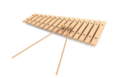 Wooden xylophone with mallets Stock Image