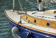 Wooden yacht Stock Photo