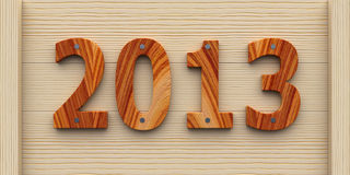 Wooden Year 2013. 2013 year made of wood Royalty Free Stock Photography