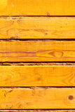 Wooden yellow wall Stock Photography