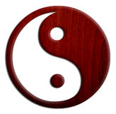 Wooden Yin and Yang Royalty Free Stock Image