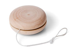 Wooden Yo-yo Toy Stock Photo