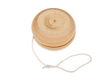 Wooden yo-yo. Toy isolated on white background Stock Photography