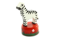 Wooden zebra toy Royalty Free Stock Image