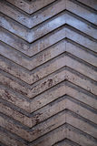 Wooden ZigZag. Wood pattern of the old door Royalty Free Stock Photo