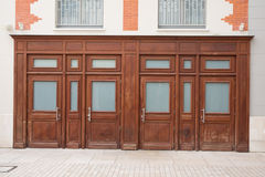 Woodenbrown store facade. Stock Image
